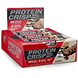 BSN Protein Crisp Bar by Syntha-6, Low Sugar Whey Protein Bar, 20g of Protein, NEW FLAVOR-S'mores, 12 Count (Packaging may vary)