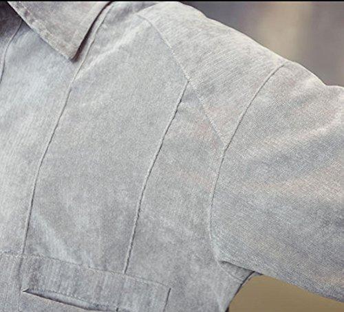 DUUMY Veste de lavage à dos en laine , gray , 2xl