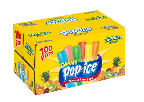Pop Ice Tropical Flavors, 100-Count
