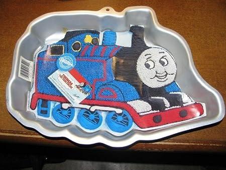 Fabulous Wilton Cake Pan Thomas The Tank Engine Train First Birthday By Birthday Cards Printable Inklcafe Filternl