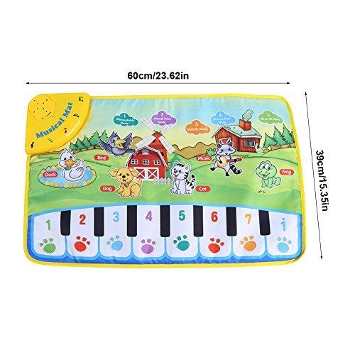 Cadeaux pour B/éb/é /Éducation Pr/écoce Tapis de Piano SOULONG Tapis de Musique Enfant Tapis de Jeu Musical Clavier