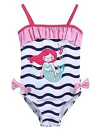 Arshiner Girl's One Piece Swimsuit Child Swimwear