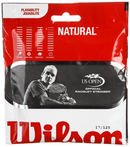 Wilson Sporting Goods Natural Gut Tennis String Set, Tan, 17-Guage