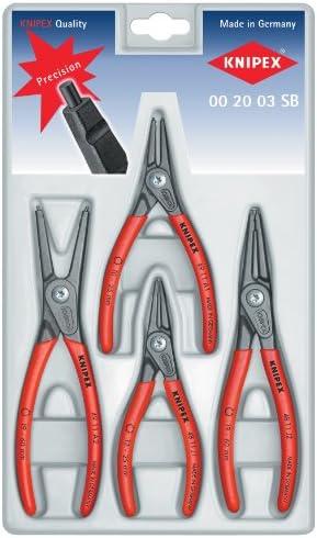 KNIPEX Tools - 4 Piece Precision Circlip Pliers Set (002003SB)
