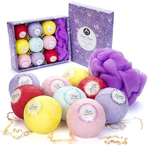 Bath Bombs Gift Set (9x3,5oz) - XL Organic Bath Bombs - Lush...