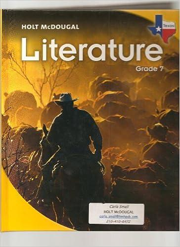 Buy Literature, Grade 7: Holt Mcdougal Literature Texas Book