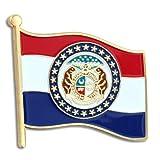 PinMart's Missouri US State Flag MO Enamel Lapel Pin 1''