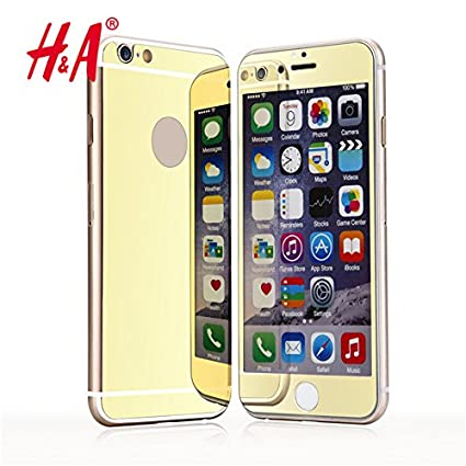 097171104ec Generic Blue, for iphone 4 4s : Front and Back Premium Mirror  Electroplating Tempered Glass