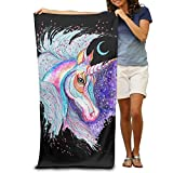 Shower Curtain pillow Colorful Unicorn Absorbent Quick Dry Travel Beach Blanket Pool Bath Oversized Beach Towel 31.5in51.2in