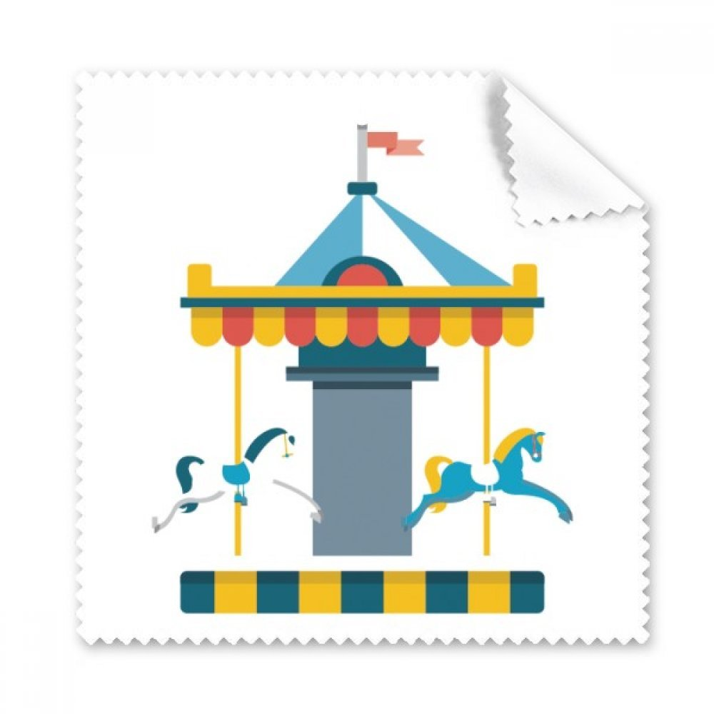 Amazing面白い公園Carousel Illustration Glasses布クリーニングクロス電話画面クリーナー5点ギフト   B0761T9P9Q