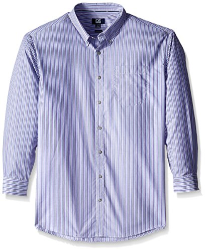 Cutter & Buck Men's Big-Tall Long Sleeve Pinshurst Stripe Shirt, Multi, 2X/Big