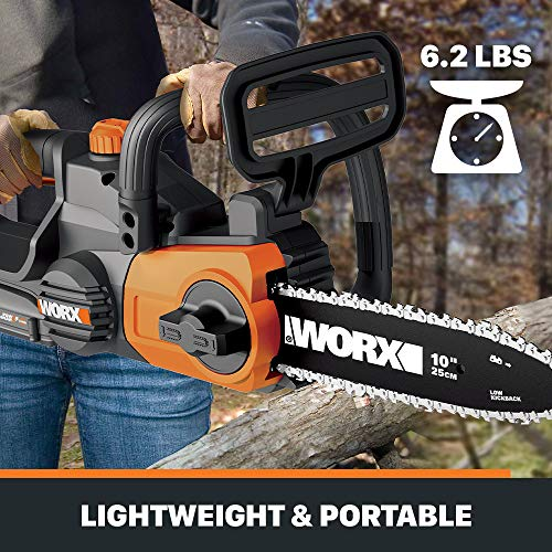 Worx 10-Inch Battery Chainsaw