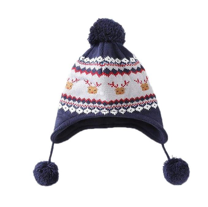 Huateng Sombrero De Punto De Invierno De Bebé Cálido Sombrero De ...