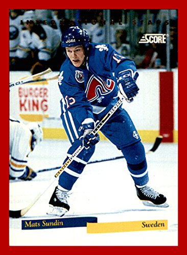 1993-94 Score International Stars #10 Mats Sundin QUEBEC - Flat Rate Shipping International Prices