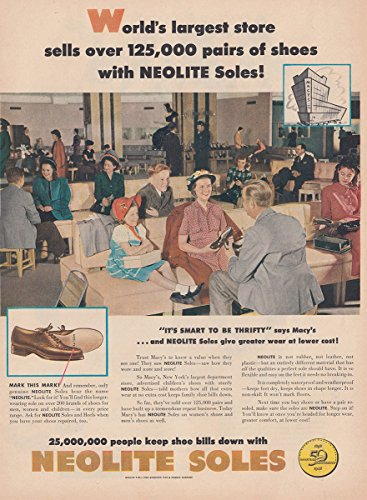 1948 Neolite Shoes: Worlds Largest Store, Macys, Neolite Soles Print - Largest Macy's