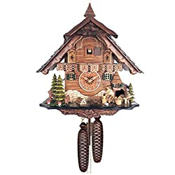 River City Clocks 842-13 Eight Day Cuckoo Clock - Man Chopping Wood