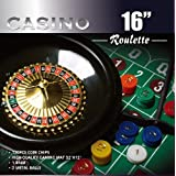 DA VINCI Casino 16-Inch Roulette Wheel Game Set with 120 Chips, Felt Layout, and Rake