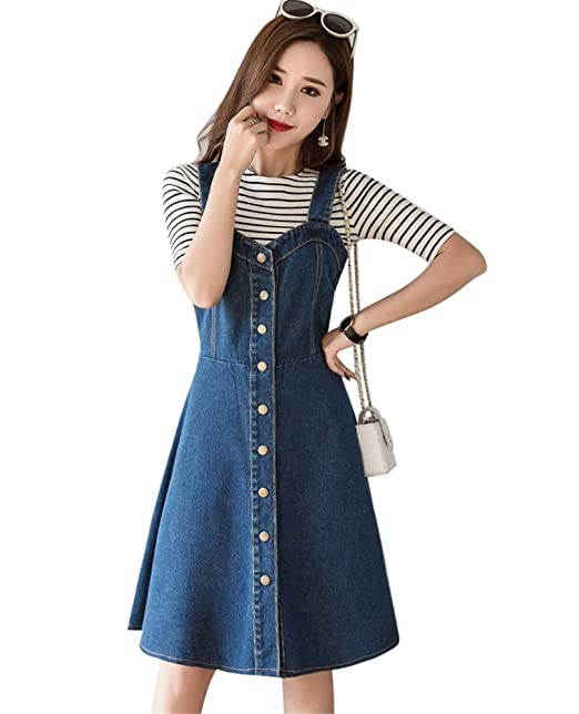 for sale complete range of articles clear-cut texture Amazon.com: Drasawee Women's A Line Casual Midi Length Denim ...
