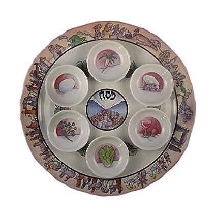 Exodus Seder Plate  sc 1 st  Amazon.com & Amazon.com: Exodus Seder Plate: Kitchen \u0026 Dining