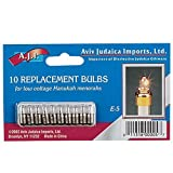 Low Voltage Replacement Bulbs for Low Voltage Hanukah Menorah