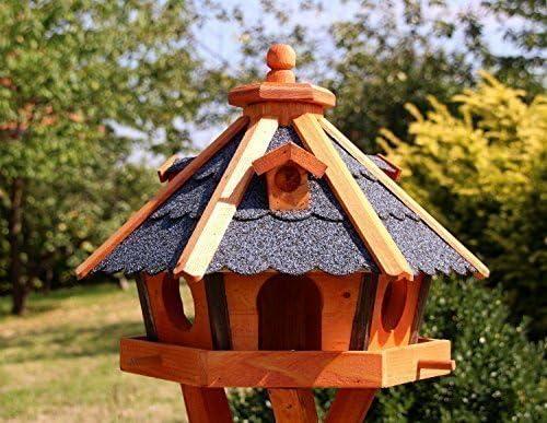 Casa de pájaros, Casas de pájaro con Iluminación solar con y sin Soporte tratado Tipo 23 - Azul, ohne Ständer: Amazon.es: Jardín