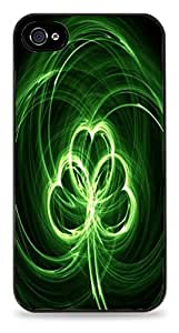Beautiful-Diy Abstract Clover Black case cover for S2UyrkPMSOj iPhone 4 / 4S