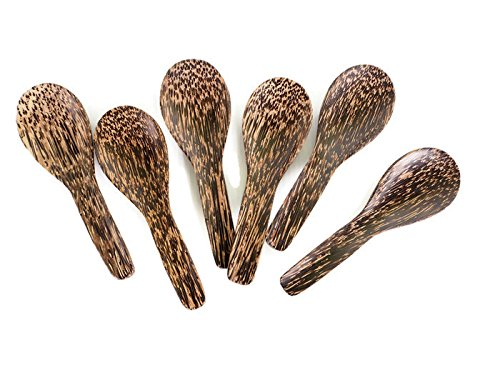 Wooden Spoons 5 Inch. (Pack of 6) - Heavyweight Iced Teaspoon