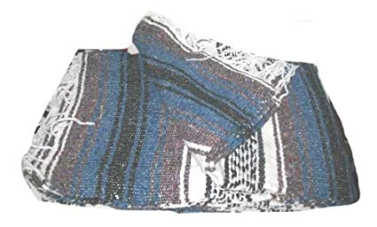 Amazon.com: Authentic Mexican Falsa Throw Blanket Rug Yoga ...