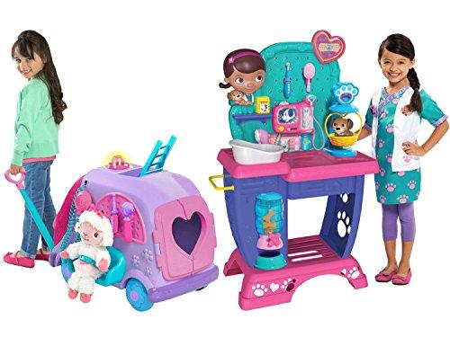 [Disney Junior Doc McStuffins Pet Vet Checkup Center and Disney Junior Doc McStuffins Get Better Talking Mobile,] (Doctor Barbie Costume)