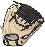 Louisville Slugger Pro Flare Catcher's Mitt, Cream/Black, Right Hand Throw