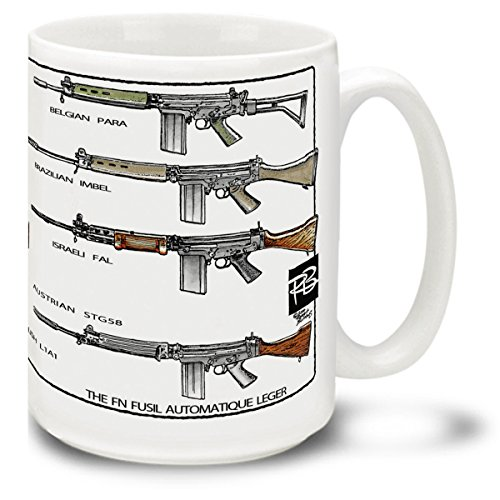 - Cuppa Second Amendment Rights 15-Ounce Coffee Mug with FAL's