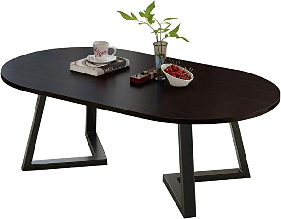 Living Room Oval Wood Coffee Table Modern Side Table For