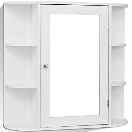 Amazon Com White 26 L Mdf Wall Mount Storage Cabinet Bathroom