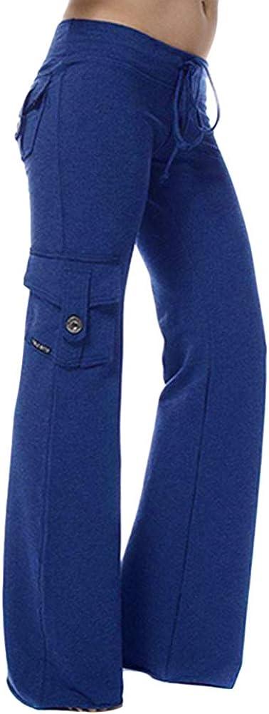 ORANDESIGNE Pantalon de Yoga pour Femmes Pantalon de Jogging Pantalon Longue L/âche Fitness Jogging Yoga Pantalons