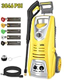 Oasser Electric Pressure Washer Power Washer 3046 PSI 1.85 GPM Pressure Cleaner 1800W Car Washer with Spray Gun 5 Nozzles 16ft High Pressure Hose