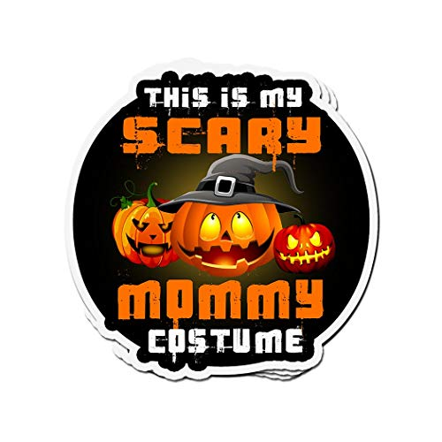 ViralTee 3 PCs Stickers This is My Scary Mommy Costume Pumpkin Halloween Tee 4 × 3 Inch Die-Cut Decals]()
