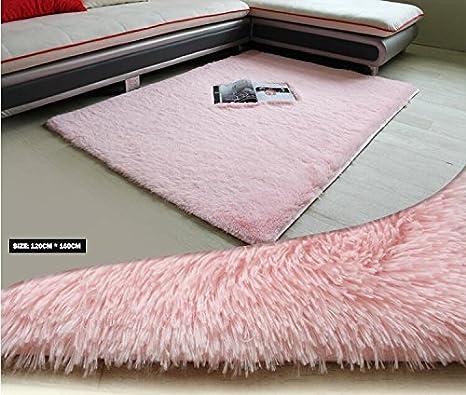 HUAHOO 80cm x 120cm Area Carpet for Bedroom/Living Room/Carpet Black