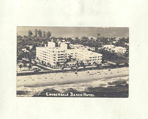 1939 Lauderdale Beach Hotel Fort Lauderdale Florida ORIGINAL Postcard (Hotel Fort Lauderdale Florida)