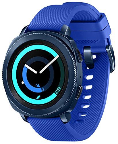Samsung Gear Sport Smartwatch Fitness Tracker- Water Resistant - International Version- No Warranty- Blue (SM-R600NZBATTT)
