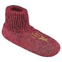NCAA Arizona State Sun Devils Ribbed Cuff Wool Blend Slipper Socks, Small, Red