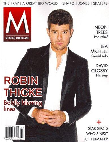 Robin Thicke, Neon Trees, Lea Michele, David Crosby - 2014 [M] Music & Musicians Magazine [Issue #33]