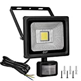 LED Motion Sensor Flood Light Outdoor Cly, 20W 1800lm Super Bright Detector Floodlight, 6000K Daylight White, IP66 Waterproof Security Outdoor Wall Light for Garden, Garage, Patio and Yard