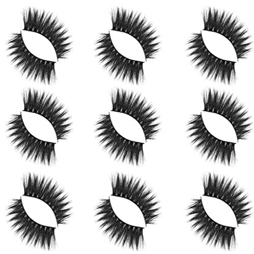 Dsood Eye Lashes Sets Mink,Luxury 9Paire 5D False Lashes Fluffy Strip Eyelashes Long Natural Party Makeup,Beauty & Personal Care ()