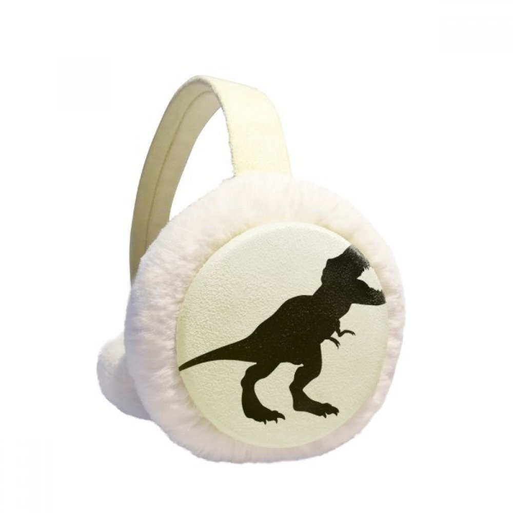 Dinosaur Bones Tyrannosaurus Rex Winter Earmuffs Ear Warmers Faux Fur Foldable Plush Outdoor Gift