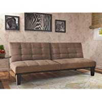 Tweed Memory BC-281 Foam Futon, Split Seat & Back, Wooden Frame, Brown Color