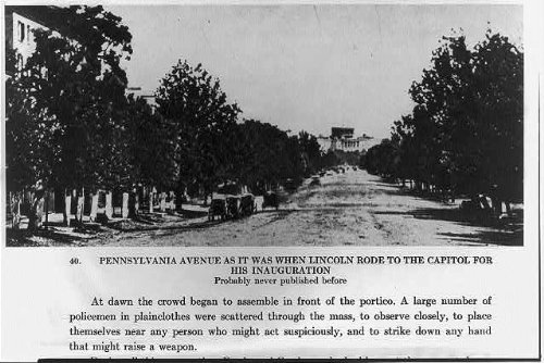 Photo: Pennsylvania Ave,as it was when Lincoln rode to the Capitol for his - Lincoln Rode