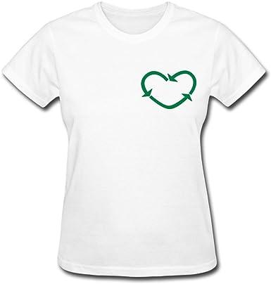 yuanyuewandao mujeres del amor a reciclar camisetas: Amazon ...