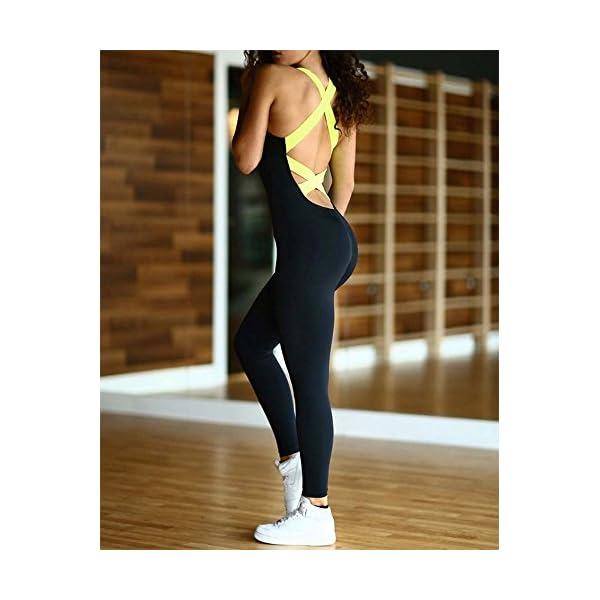 Femmes Sport Yoga Bandage Combinaison, Body Femmes Backless Fitness Barboteuses One Piece accessoires de fitness [tag]