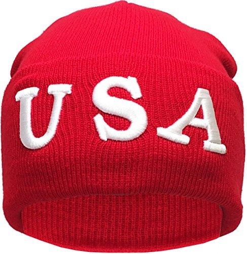 (USA Make America Great Again Donald Trump Knit Skull Cap Hat Beanie)