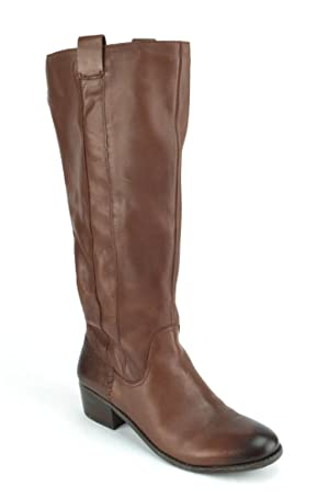 Sole Society Georgeann Women's Whiskey Leather Riding Boots US9.5